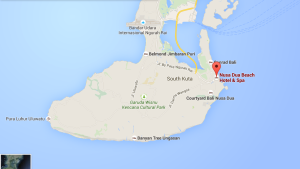 Map of Nusa Dua